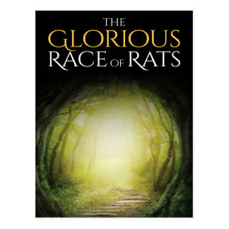 "Book cover of ""The Glorious Race of Rats"" Postcard"