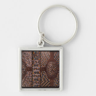 Book cover Silver-Colored square key ring