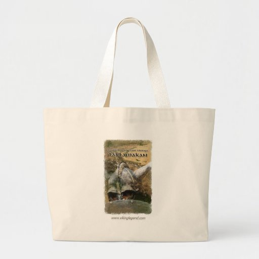 Book Cover Viking Helmet with Horns Tote Bag