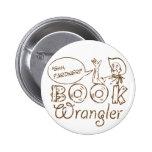 Book Cowboy Funny Librarian 6 Cm Round Badge