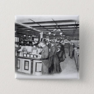 Book Department at an Army and Navy store 15 Cm Square Badge