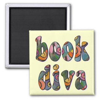 Book Diva 2 Refrigerator Magnet