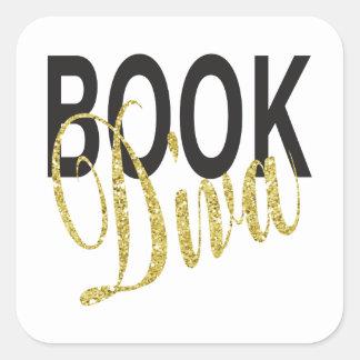 Book Diva Square Sticker