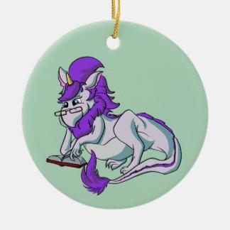 Book Dragon! Christmas Ornament
