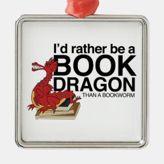Book Dragon Christmas Ornament