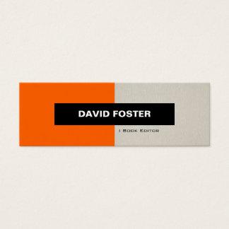 Book Editor - Simple Elegant Stylish Mini Business Card