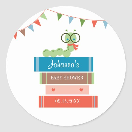 Book for Baby Shower Favour Sticker
