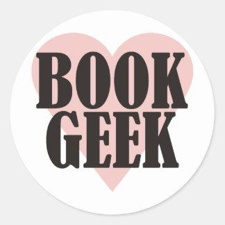 Book Geek Classic Round Sticker