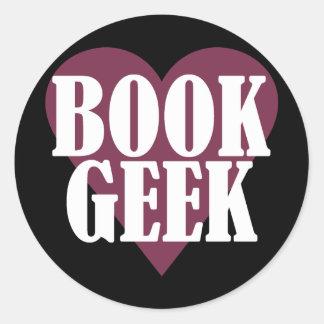 Book Geek Round Sticker