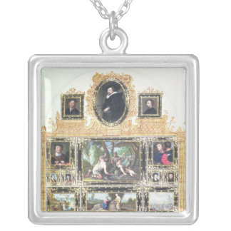 Book I f.Q Painted Inventory of Emperor Silver Plated Necklace