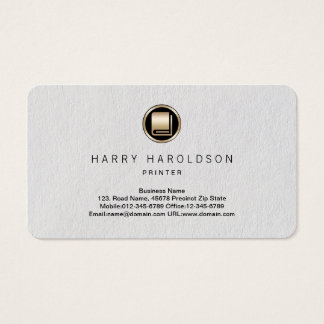 Book Icon Printer Premium Business Card