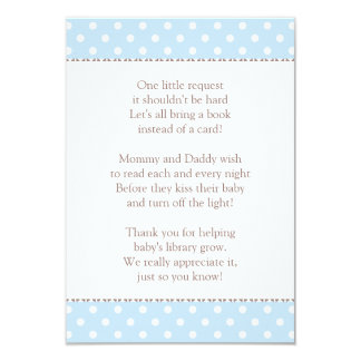 Book Instead of Card | Baby Shower Insert 9 Cm X 13 Cm Invitation Card