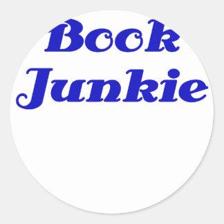 Book Junkie Round Sticker