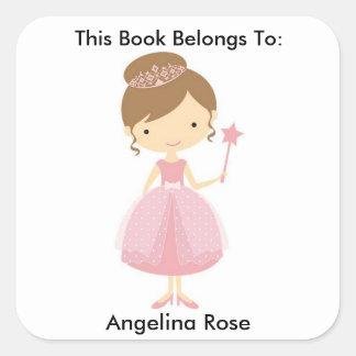 Book Label, Book Sticker, Book Identification Square Sticker