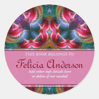 Book Label : Colourful Fantasy Fractal Sticker
