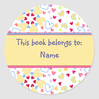 Book Label Round Sticker