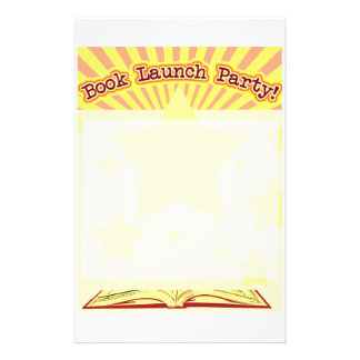 Book Launch Party Stationery Paper