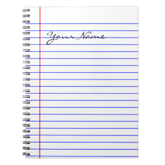 Book Lines (Put Your Name) Notebooks