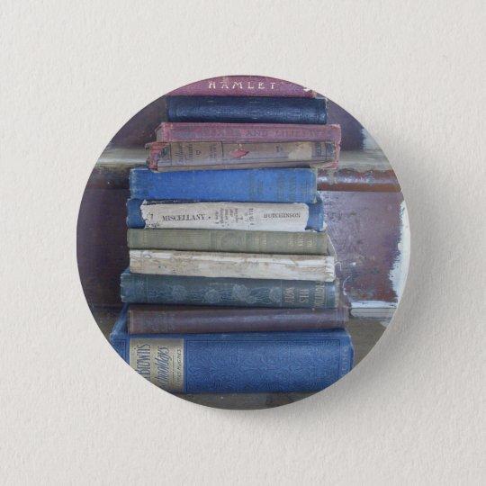 book lover 6 cm round badge