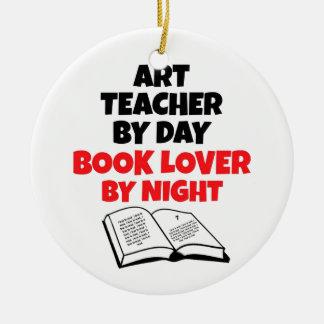 Book Lover Art Teacher Christmas Ornament