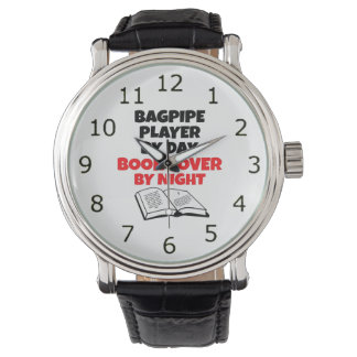Book Lover Bagpipe Player Wristwatches