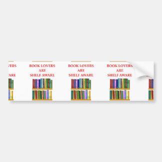 book lover bumper sticker