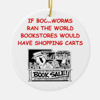 book lover christmas ornament
