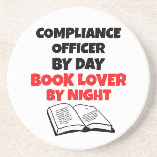 Book Lover Compliance Officer Beverage Coasters