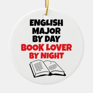 Book Lover English Major Christmas Ornament