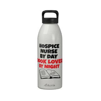 Book Lover Hospice Nurse Reusable Water Bottles