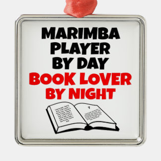 Book Lover Marimba Player Christmas Ornament