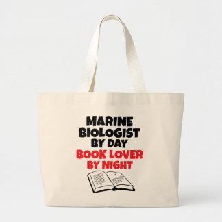 Book Lover Marine Biologist Large Tote Bag