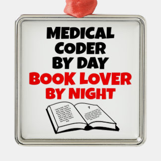 Book Lover Medical Coder Christmas Ornament