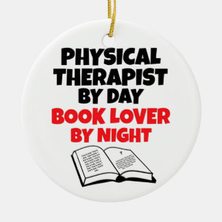 Book Lover Physical Therapist Christmas Ornament