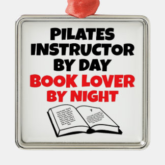 Book Lover Pilates Instructor Christmas Ornament
