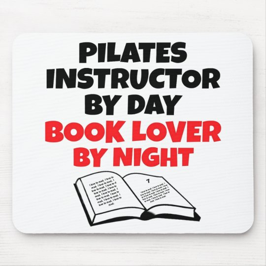 Book Lover Pilates Instructor Mouse Mat