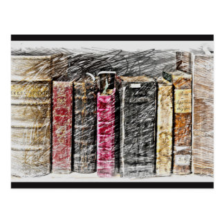 Book Lover Postcard, Book Postcard