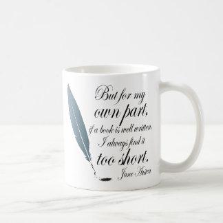 Book Lover Quote Jane Austen Basic White Mug