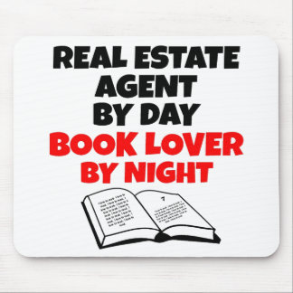 Book Lover Real Estate Agent Mouse Mat