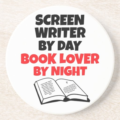 Book Lover Screen Writer Drink Coaster