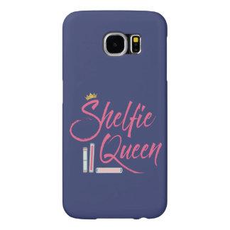 Book Lover Shelfie Queen Blue and Pink Samsung Galaxy S6 Cases