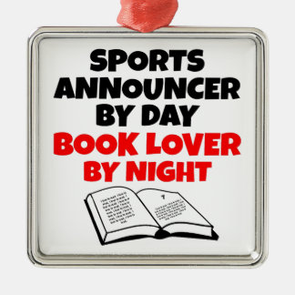 Book Lover Sports Announcer Christmas Ornament