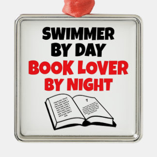 Book Lover Swimmer Christmas Ornament
