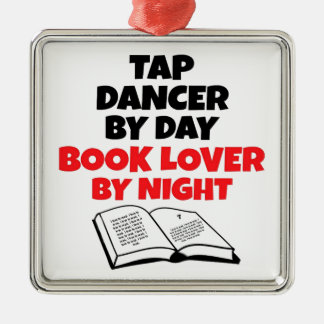 Book Lover Tap Dancer Christmas Ornament