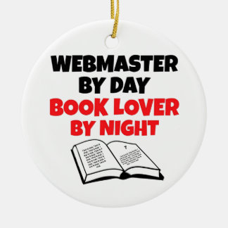 Book Lover Webmaster Christmas Ornament