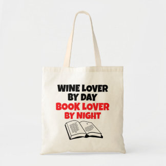 Book Lover Wine Lover Tote Bag