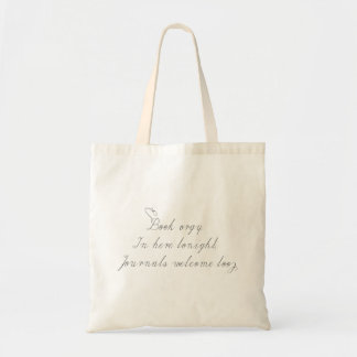 Book lovers budget tote bag