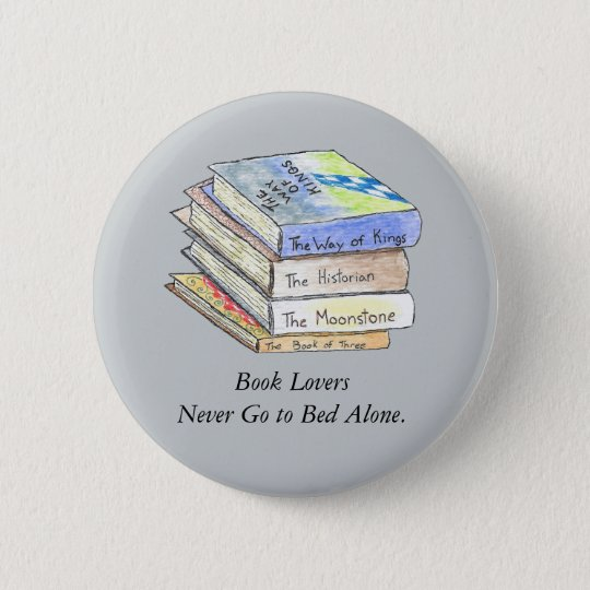 Book Lovers Button