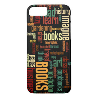 Book Lovers Lingo in Rust and Green iPhone 7 Case