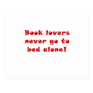 Book Lovers Never go to Bed Alone Postcard